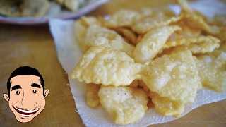 NONNA'S CHIACCHIERE RECIPE   How to Make Italian Fried Cookies   CROSTOLI