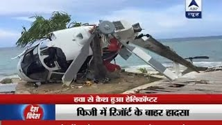 Watch a Helicopter crash at Fiji resort, seven on board escape