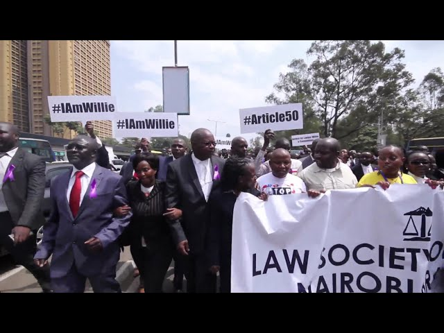 Kenya: lawyers protest over killing of colleague