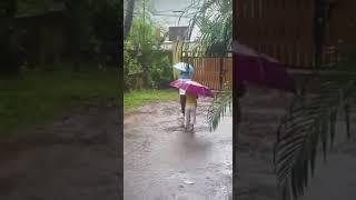 Farhan And Aliya Enjoying Rain 🌧☔️