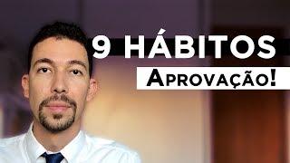 9 hábitos que me levaram à aprovação em concurso público