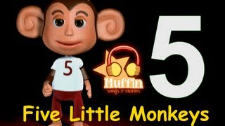 Five Little Monkeys | Family Sing Along - Muffin Songs