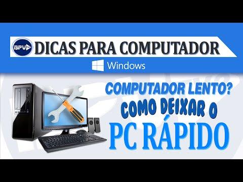 Computador lento? Como deixar o PC rápido!