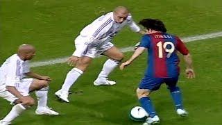 19 Year Old Messi Vs Roberto Carlos, Cannavaro, Ramos... ● Lionel Messi vs Real Madrid (22/10/2006)