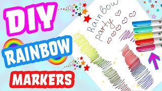 Rainbow Color Markers DIY Crafts For Kids   How to Make a Rainbow Coloring Pen! Life Hacks