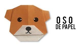 Oso de papel - Papiroflexia - Origami