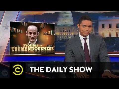 Profiles in Tremendousness Senior Adviser Stephen Miller The Daily Show