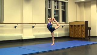 8 Year Old Macie McCord's Acro / Contortion Practice Routine for America's Got Talent 1/21/14