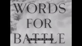 "1941 BRITISH PATRIOTIC  PROPAGANDA FILM  ""WORDS FOR BATTLE""  SIR LAURENCE OLIVIER  51744"