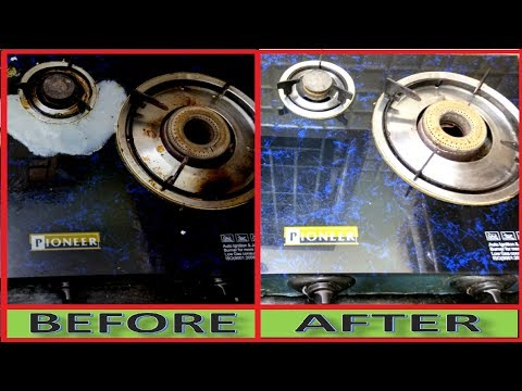 Without Water and Without Chemicals How To Clean Dirty Gas Stove and Burner Rust
