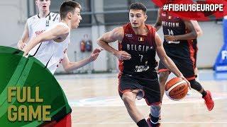 Switzerland v Belgium - Full Game - FIBA U16 European Championship 2017 - DIV B
