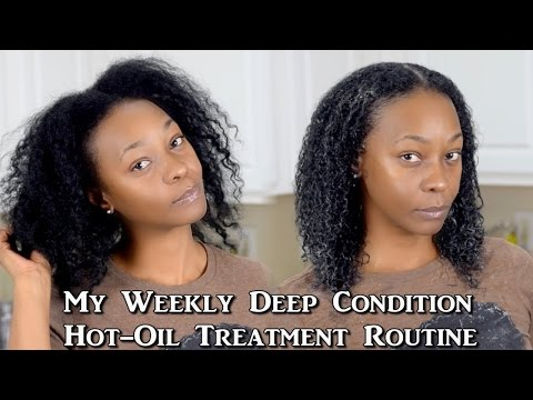 Weekly Hot Oil Treatment and Deep Conditioning Routine | Natural Hair