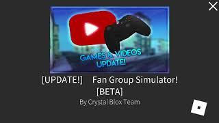 ROBLOX Fan Group Simulator Glitch