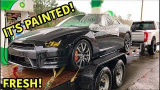 Rebuilding A Wrecked 2013 Nissan GTR Part 6