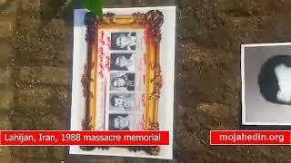 Lahijan, Iran, the memorial of 30,000 massacred in 1988
