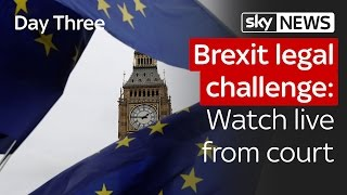 Brexit legal challenge: Day three live from court