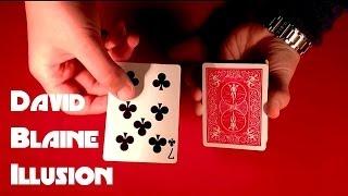 David Blaine Card Trick Illusion REVEALED!!