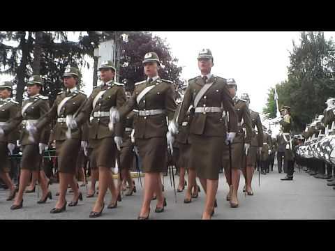 Escuela de Carabineros de Chile 2014 Desfile en Doñihue cap. Duarte AMARO