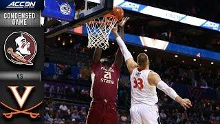 Florida State vs. Virginia Condensed Game   2018-19 ACC Basketball