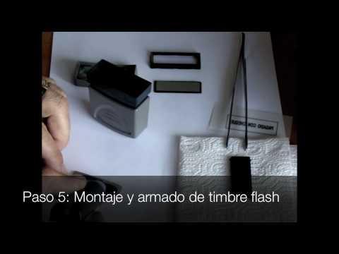 ¿Cómo fabricar timbres flash Sellos PAFER
