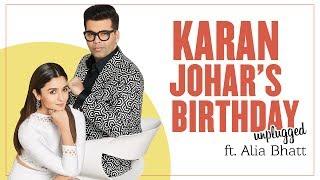 Karan Johar's Birthday Unplugged Ft. Alia Bhatt | LIVE