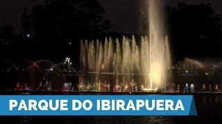 João Doria entrega revitalização da fonte do lago do Parque do Ibirapuera