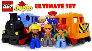 TRAINS FOR CHILDREN VIDEO: LEGO Duplo Train 10507 & 10508 Story of the Lost Bag Cartoon Toys