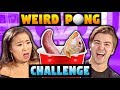 Gross Pong Challenge (EATING COW INTESTINES?)