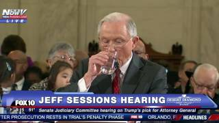 "FNN: Protester Interrupts Jeff Sessions Testimony, Chants ""No Trump, No KKK, No Fascist USA"""