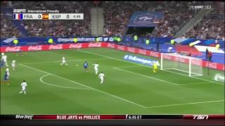 France vs spain 0-2 english commentary hd