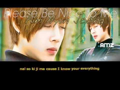 Kim Hyun Joong SS501   Please Be Nice To Me w  Simple Romanji Lyrics