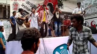 সংসার আর সংসারে ( Sohan JaJabor)।Cover JNU Students জগন্নাথ টি এস সি ।৬-৩-২০১৬ । বিজয় দাস এর গান