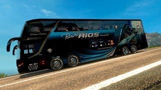 Paso Los Libertadores   Los Caracoles Chilenos   Bus Modaza Zeus 3   Bus Doble Piso