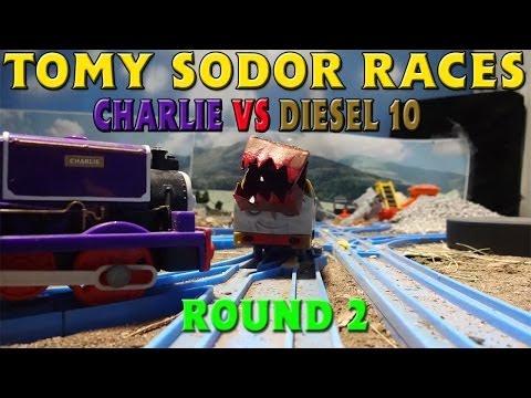 Tomy Sodor Races Diesel 10 vs Charlie Round 2