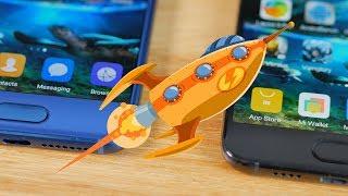 Xiaomi MI 6 VS Huawei Honor 9 Speed Test: UFS & EMMC Difference?[4K]