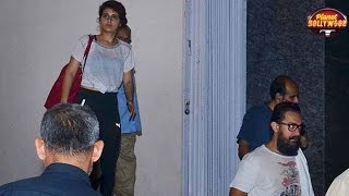 Aamir Khan Tries Hard To Avoid Being Snapped With Fatima | Bollywood News