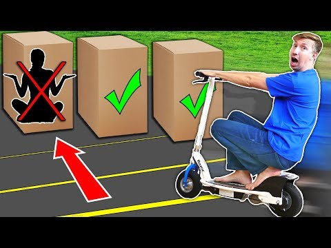 RUN OVER Hiding Person in the Box Challenge