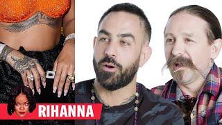 Tattoo Artists Critique Rihanna, Justin Bieber, and More Celebrity Tattoos | GQ