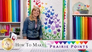 How to Make Prairie Points | a Shabby Fabrics Quilting Tutorial