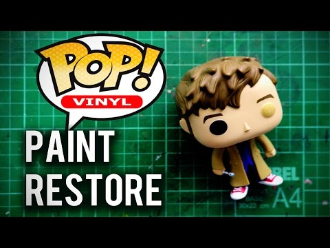Funko Pop Paint Restore Attempt on the Tenth Doctor (Doctor Who)
