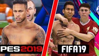 FIFA 19 vs PES 19 JUBEL 🛑