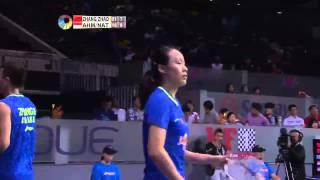 Zhang Nan/Zhao Yunlei vs T. Ahmad/L. Natsir   XD SF Match 5 - OUE Singapore Open 2015