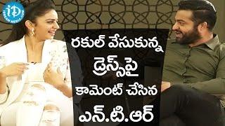 Jr NTR And Sukumar Mocking Rakul Preet Singh - Nannaku Prematho Movie Interview