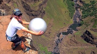 Exercise Ball Magnus Effect from 200m!!