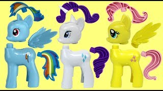 My Little Pony MLP Rainbow Dash Spin n Slide Building Toy Play Set