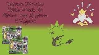 Pokémon XY—Fates Collide 3-Pack Pin Blister Mega  Alakazam & Zygarde Unboxing