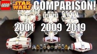 LEGO Star Wars Tantive IV Comparison! (10019, 10198, 75244   2001, 2009, 2019)