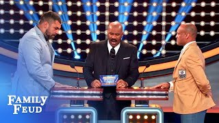 It's NFLPA Legends vs. NFLPA All-Stars! | Celebrity Family Feud