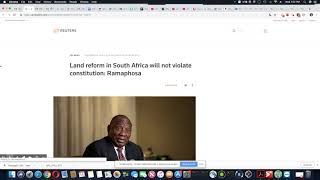 Land Expropriation In South Africa Doesn