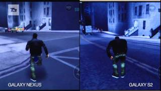 Samsung Galaxy S2 vs Samsung Galaxy Nexus:GTA3 Gameplay Footage